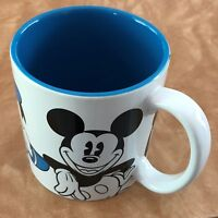 Disney Store Characters Mickey Minnie Mouse Donald Goofy White Coffee Mug Cup