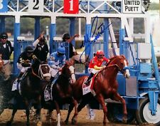 Mike Smith signed  autograph Justify 8x10 Belmont Stakes Starting Gate Champion