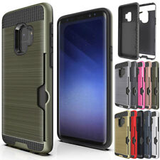 Shockproof Slim Case with Credit Card Holder For Samsung Galaxy S8 S9+ S7 Edge