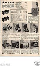 1955 PAPER AD Ansco Camera Readyset Viking 35MM Super Regent Iloca Stereo