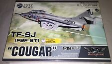 Kitty Hawk TF-9J Cougar F9F-8T 1/48 airplane model kit new 80129 *