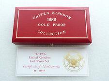 1986 Royal excellent état rouge SOUVERAIN OR épreuve 3 pièce de monnaie Kit