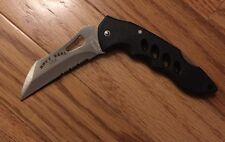"NAVY SEAL TAC BLACK 4 1/2"" NEW Stainless Steel Lockback Lightweight Gift Men"
