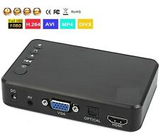 Full HD 1080P USB HDD Media Player with RCA & VGA SD Support MKV H.264 RMVB