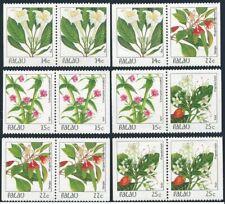 Palau 130a-131a-132a-132b-133a-133b pairs,MNH.Mi 180/242 D/D. Flowers 1987-1988.
