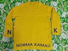 VINTAGE OMO GYM BY NORMA KAMALI BIG LOGO SPELL L/S T SHIRT M TOP DRESS BLOUSE