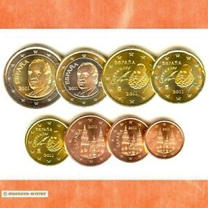 Kursmünzensatz Spanien 2011 1c-2 Euro•Münze•KMS alle 8 Münzen Satz Eurosatz Set