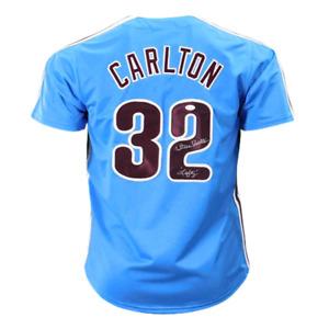 Steve Carlton Signed Lefty Inscription Blue Philadelphia Jersey (JSA)