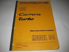 PORSCHE 911 CARRERA TURBO SERVICE INFORMATION MANUAL MODEL 84