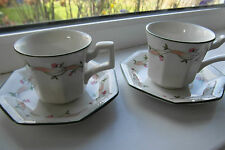Johnson Brothers Eternal Beau Coffee Cups & Saucers x 2 British