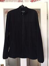 Mens Matalan Black Fleece Jacket Size Medium
