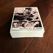 1966 Scanlens THE MONKEES (SEPIA) COMPLETE SET OF 44 CARDS