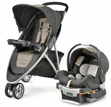 Chicco Viaro 3 Wheel Travel System Stroller w/ KeyFit 30 Car Seat Teak NEW 2016