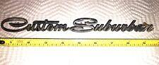 Auto BLING!!  Vintage CUSTOM SUBURBAN Nameplate / Badge / Emblem