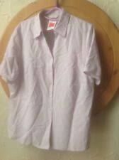 👀👚Marks & Spencer Size 18 LILAC FINE EMBROIDERED CHECK Blouse 👚new With TAGS