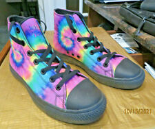 Yes We Vibe! High top Tie Dye Tennis Shoes Woman's size 7 Men's 5 1/2 New Cool!