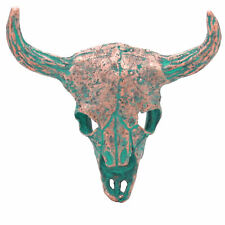 "Bull Skull Antique Copper Patina Screw Back Concho 2-1/4"" 7574-90"