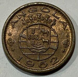 1962 Angola 20 Centavos Republica Portuguesa aUNC Coin
