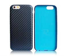 iPhone 6s Slim Fit leather case Midnight Blue Carbon Fiber pattern