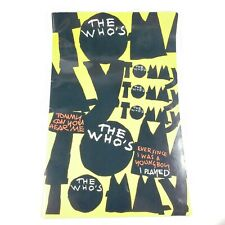"""Original """"The Who's Tommy"""" 1993 Broadway Play Program Book - Pete Townshend"""