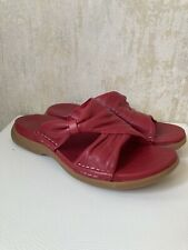 CLARKS ACTIVE AIR RED LEATHER SLIP ON SANDALS SIZE UK 4 EU 37