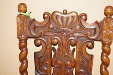 A Pair of French Carved Antique Baroque Chairs