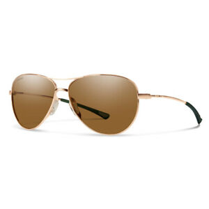 Smith Langley Matte Rose Gold Sunglasses w/ Polarized Brown Lens