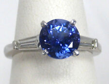 Tanzanite Ring 18K White Gold 3 Stone AAA+ Certified Natural Heirloom $5,955