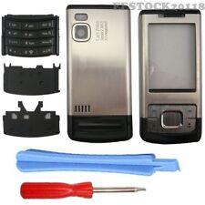 Black Silver Nokia 6500S 6500 Slide Fascia Full Housing Case Cover Bezel Keypad