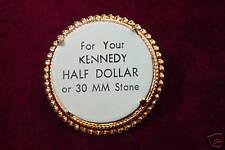 Bolo Slide Gold Plate JFK Half Dollar 0323 (pkg of 3)