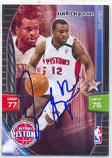 WILL BYNUM DETROIT PISTONS SIGNED 2009-10 BASKETBALL CARD GOLDEN STATE WARRIORS