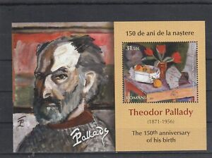 ROMANIA 2021 STAMPS THEODOR PALLADY PAINTINGS ART MS MNH POST