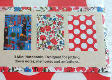 3 A6 MINI NOTEBOOKS SET I Love London ICONS BLUE Ditsy Floral BIG RED SPOTS Gift