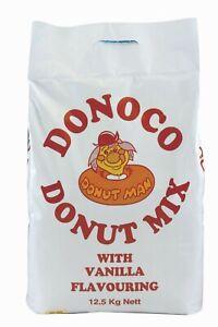 Donoco Vanilla American Donut Doughnut Mix 12.5kg Catering Bulk Cafe Diners Van