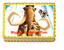 Ice Age Sid Mammoth Party Icing Frosting Edible Cake Topper 1/4 sheet