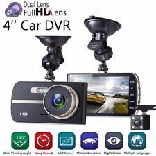 "Dual Lens HD 1080P Car Van Dash Camera DVR Recorder Night Vision 4"" LCD Rear Cam"