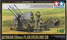 1/48 Tamiya 32554 - WWII German 20mm Flakvierling 38 Vehicle Plastic Model Kit