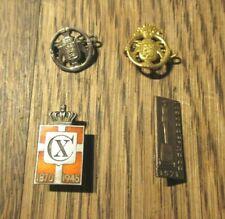 More details for vintage group 4  denmark lapel badges  including georg silver jensen cx badge