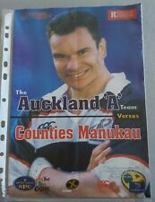 Auckland V Counties Manukau 9th octobre 1998 NZ Rugby Programme Michael Jones