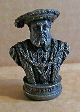ORNAMENT KING HENRY VIII RESIN BRONZED BUST TUDOR MONARCH KING OF ENGLAND