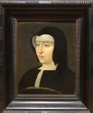Fine 16th Century French Old Master Portrait Lady Louise Of Savoy Oil Painting