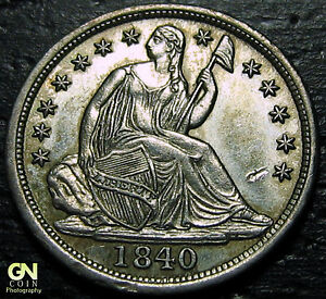 1840 Seated Half Dime  --  MAKE US AN OFFER!  #O9967