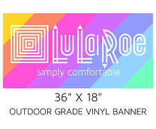 "LuLaRoe logo colored rainbow vinyl BANNER 36"" x 18"" - POP UP Boutique Trade Show"