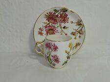 Jugendstil Kaffeetasse mit Untertasse, Chrysanthemum, Moccatasse