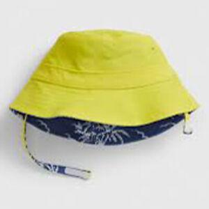 Baby Gap NWT Yellow Blue Reverible Bucket Swim Hat #577005 0-6 12-18 $25