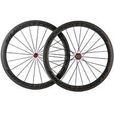 SUPERTEAM 700C Road Bicycle Carbon Wheelset 50mm Clincher Carbon Wheels Bike