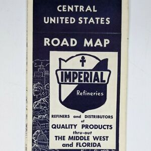 1940s Central United States IMPERIAL REFINERIES Gas Oil Rand McNally Vtg USA 1O