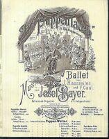 Josef Bayer, PUPPENFEE-MARSCH,  übergroße, alte Noten