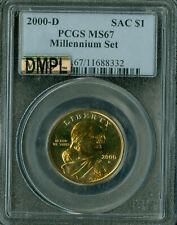 2000-D SACAGAWEA MILLENNIUM DOLLAR PCGS MAC MS 67 DMPL SPOTLESS  .