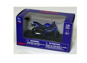 1:32 Yamaha YZF R6 by New-Ray Toys in Blue 06027F
